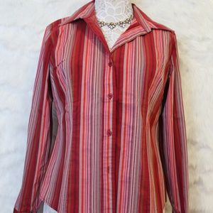Red Stripe Button Down Shirt